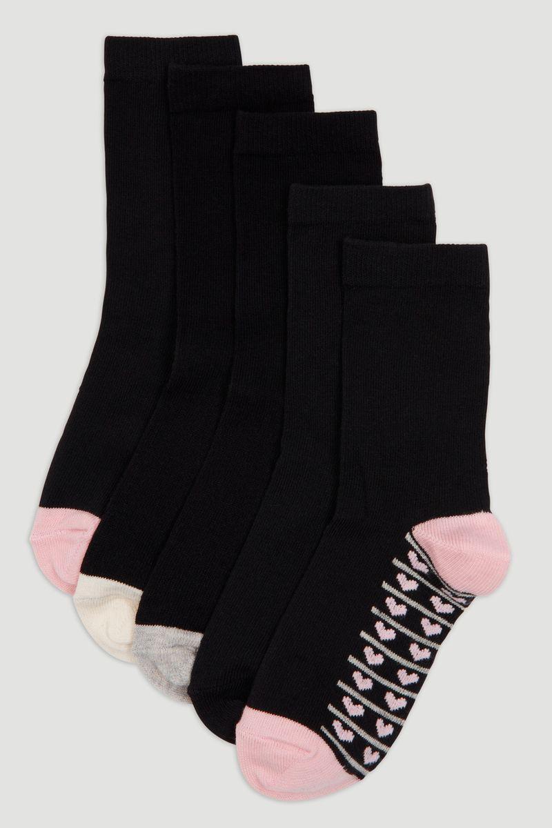 5 Pack Heart Socks