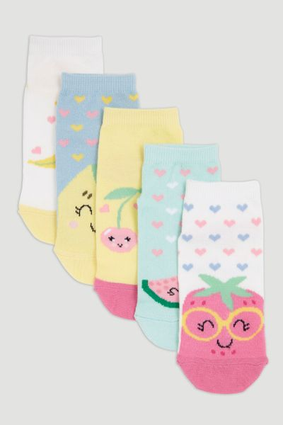 5 Pack Fruit Socks