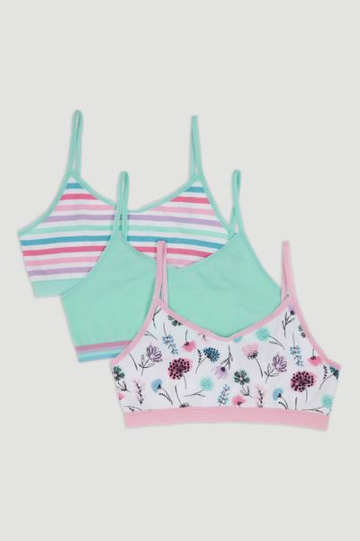 3 Pack Flower Crop Tops