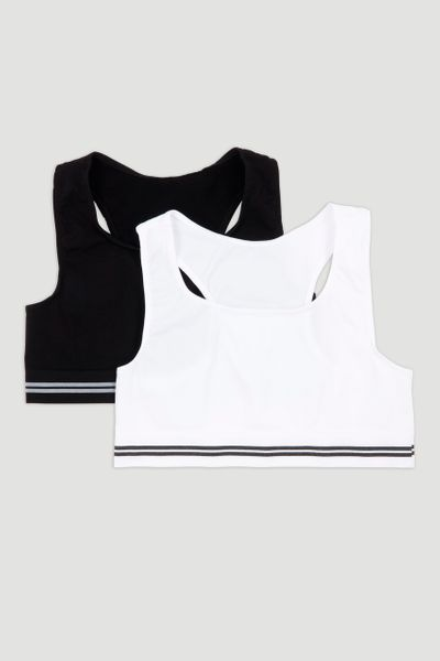 2 Pack Seam Free Crop Tops