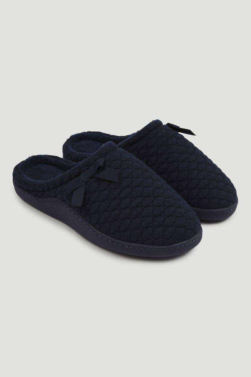 Navy Mule Slippers