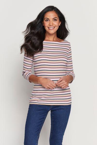 3/4 Stripe Bardot