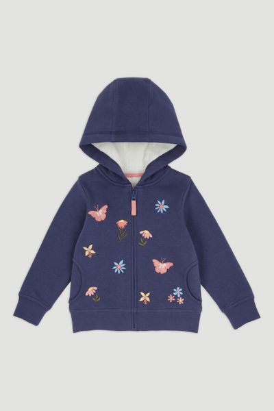 Navy Butterfly Borg Hoodie