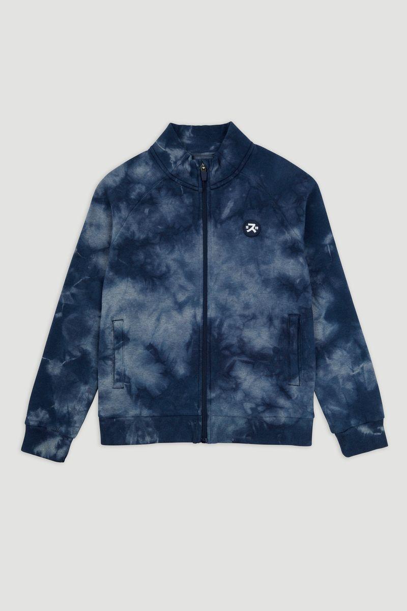 Blue Tie Dye Zip Through Sweatshirt 1-14yrs