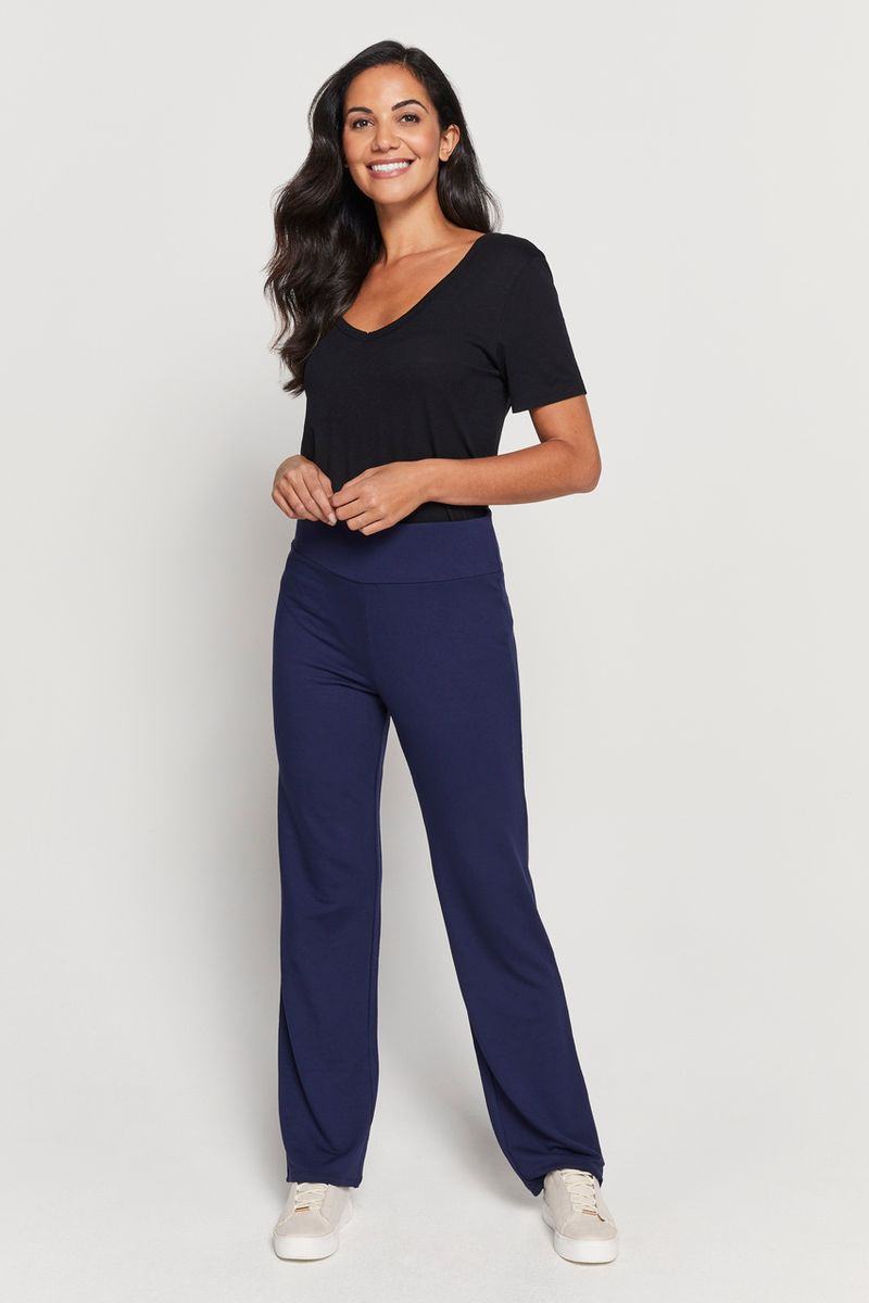 Navy Yoga Trousers