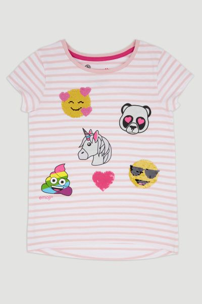 Emoji Sequin Icon T-shirt