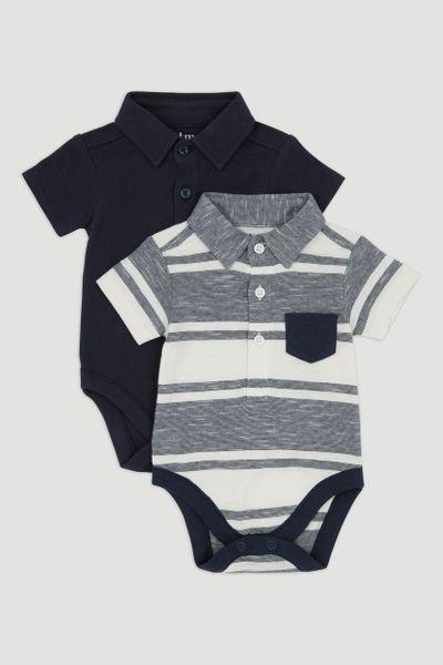 2 Pack Polo Shirt Bodysuits