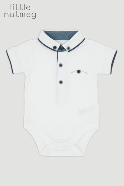Little Nutmeg Polo Shirt Bodysuit