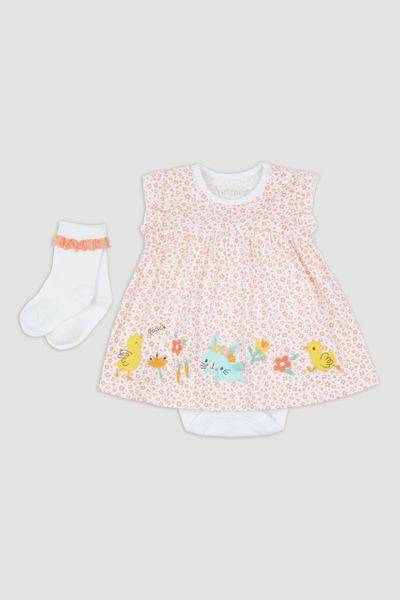 Duck Integral Romper Dress & Socks