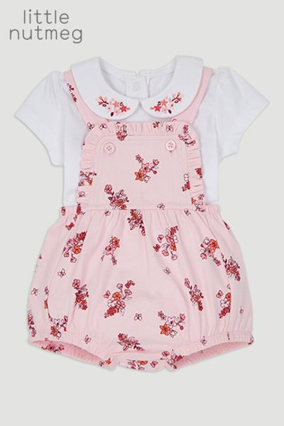Little Nutmeg Flower Romper Set