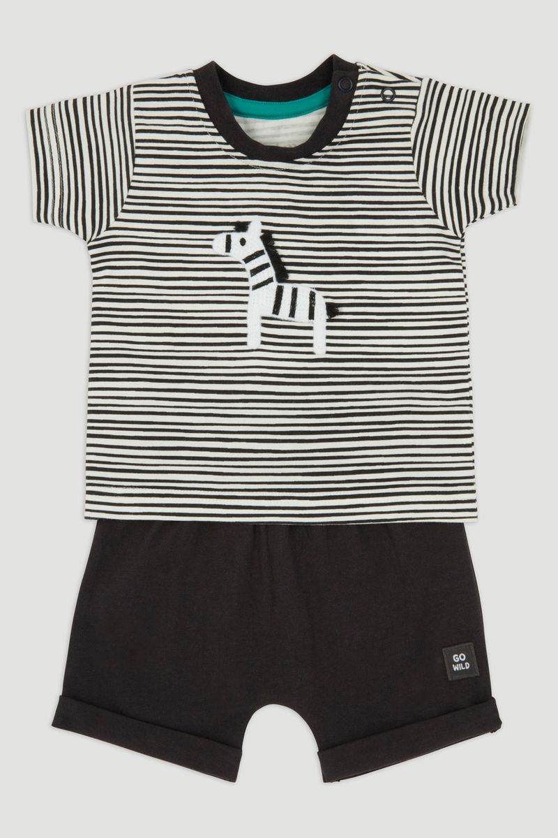 Zebra T-Shirt & Short Set