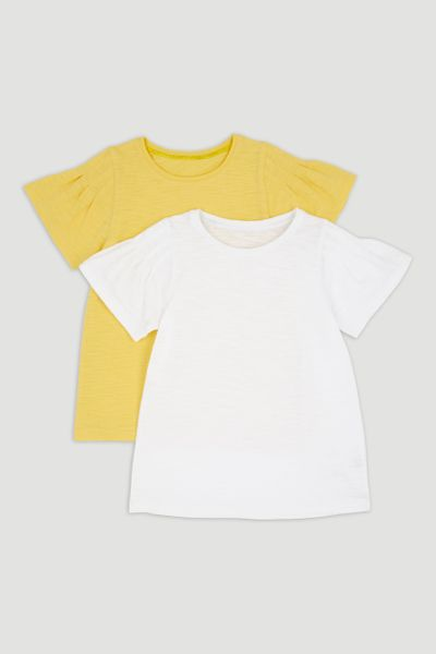 2 Pack Yellow & White T-Shirts