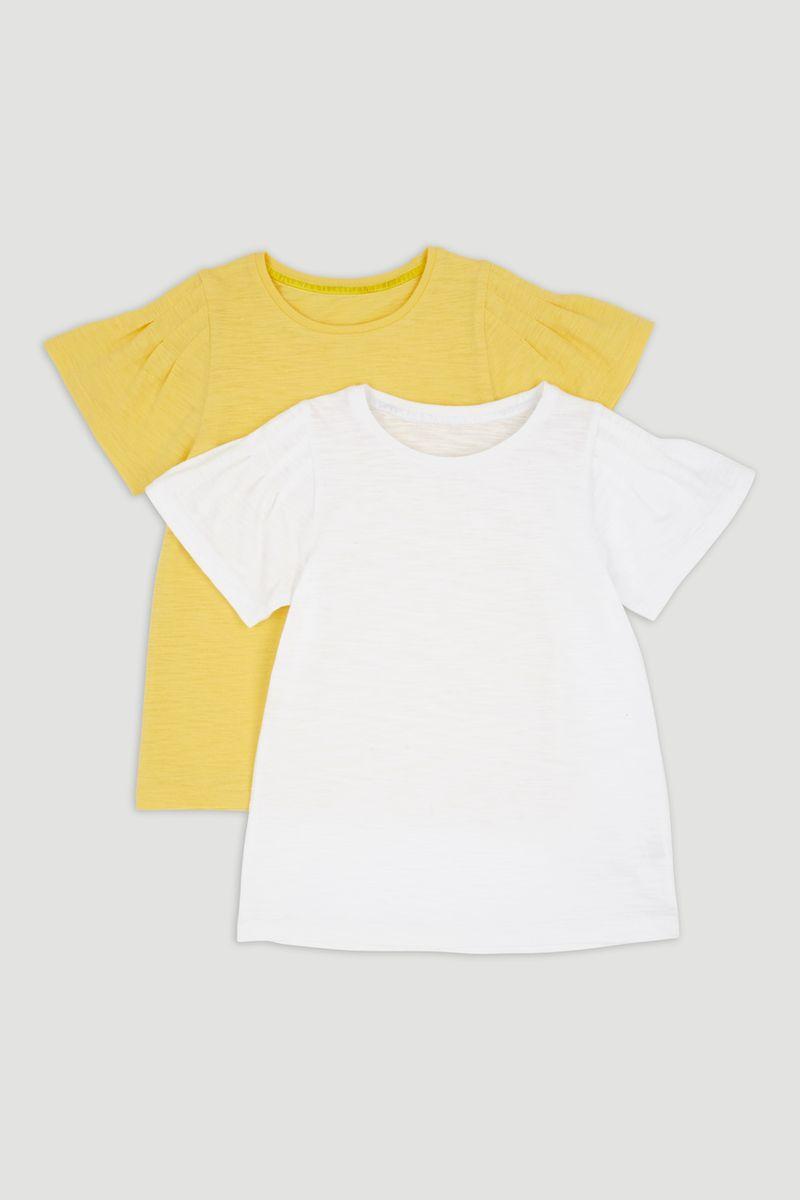 2 Pack Yellow & White T-Shirts