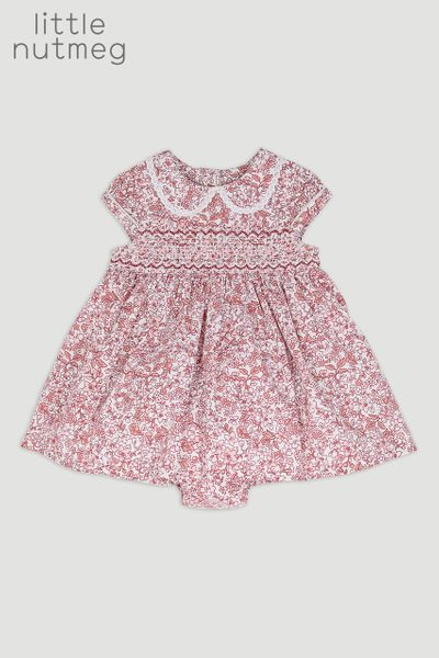 Little Nutmeg Flower Dress & Pant Set
