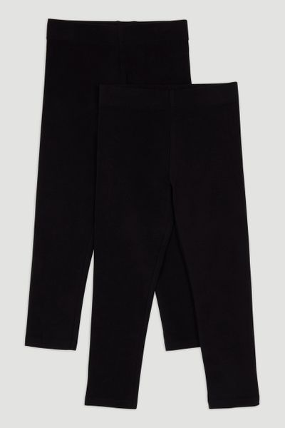 2 Pack Black Leggings 1-6yrs
