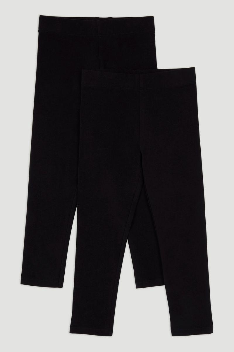 2 Pack Black Leggings 1-6yrs