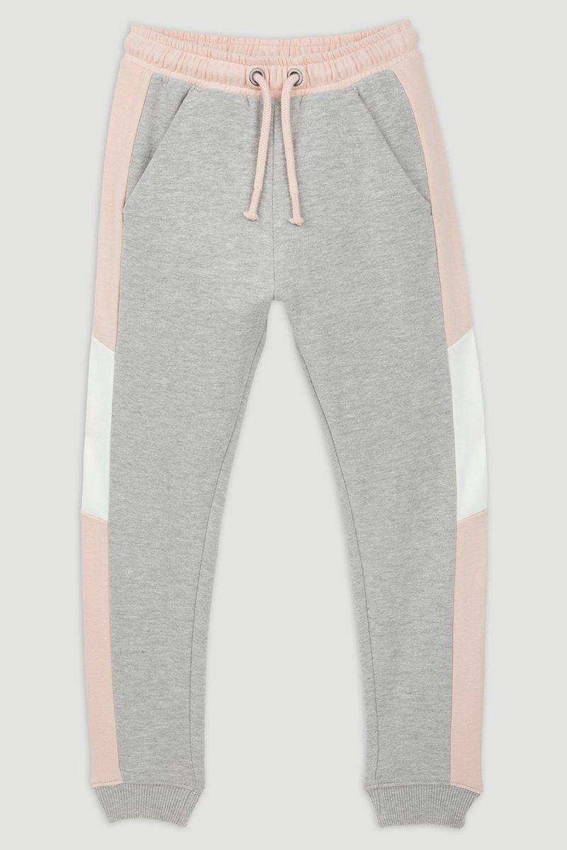 Pink Colour Block Joggers