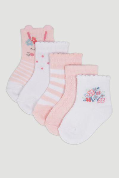 5 Pack Bunny Socks