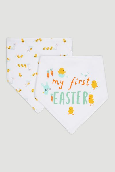 2 Pack First Easter Bandana Bibs