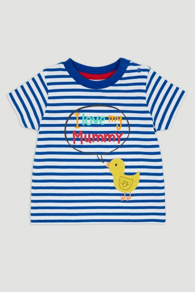 Blue Duckling Mummy Slogan T-Shirt