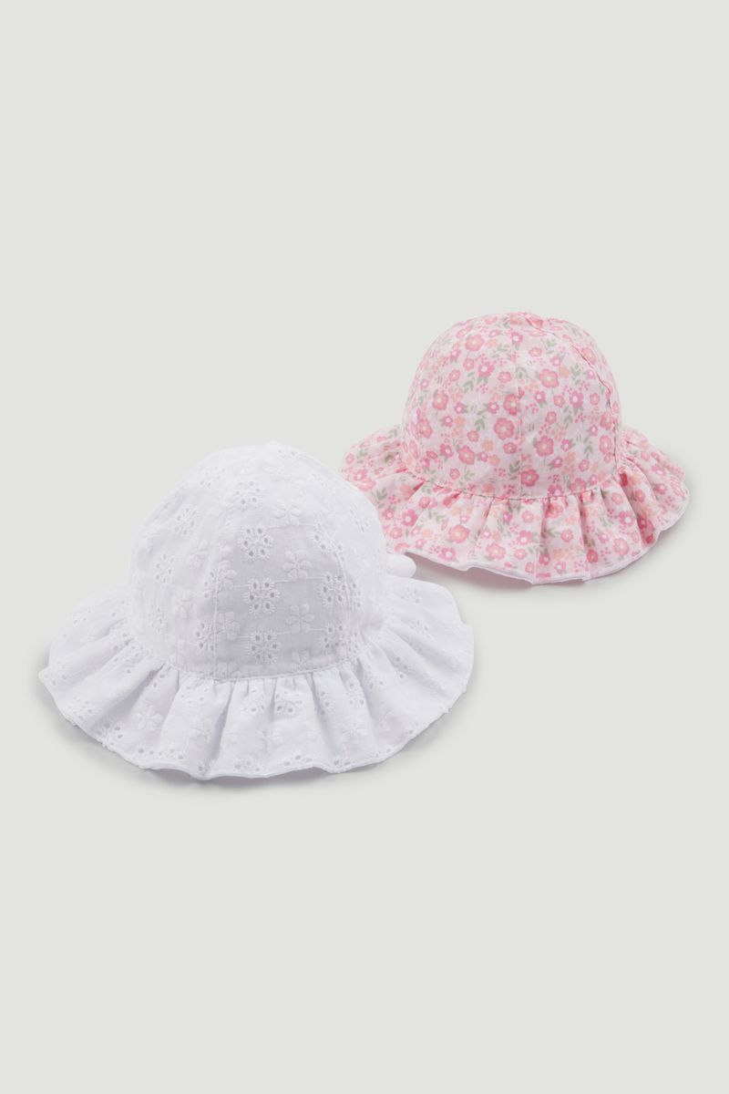 2 Pack Broderie Hats