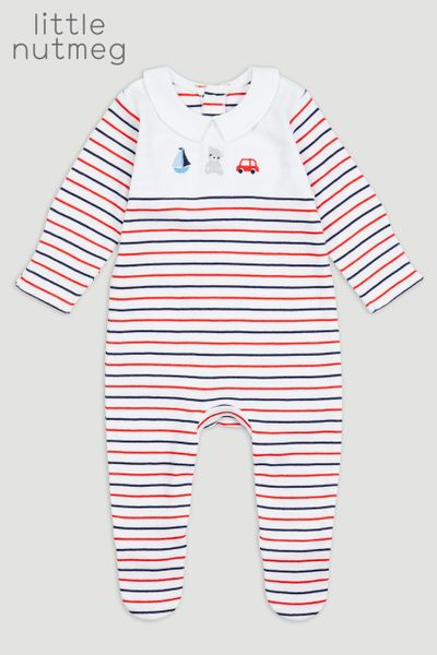 Little Nutmeg Stripe Sleepsuit