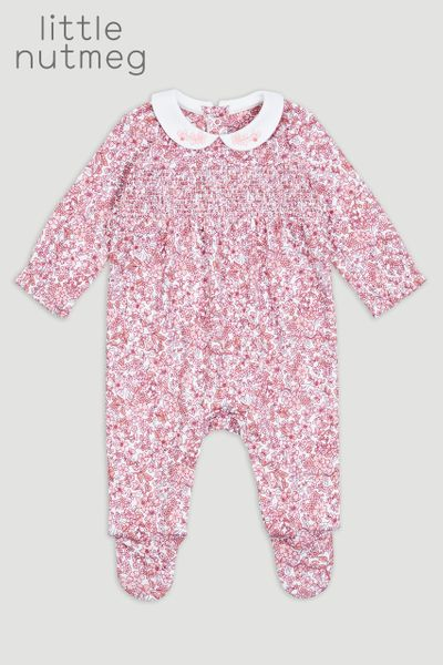 Little Nutmeg Flower Sleepsuit
