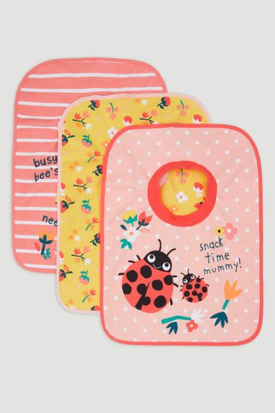3 Pack Lady bird Popover Bibs