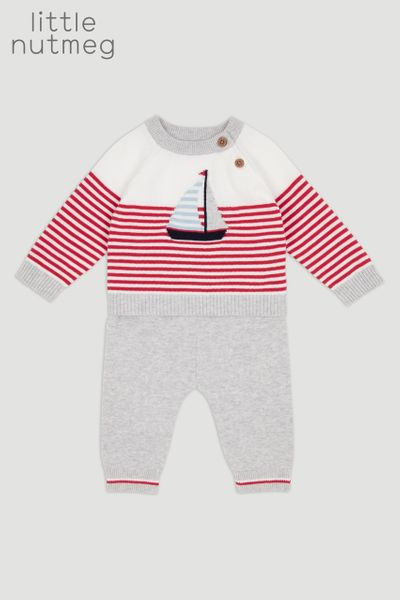 Little Nutmeg Knitted Stripe Set