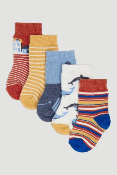 5 Pack Whale Socks