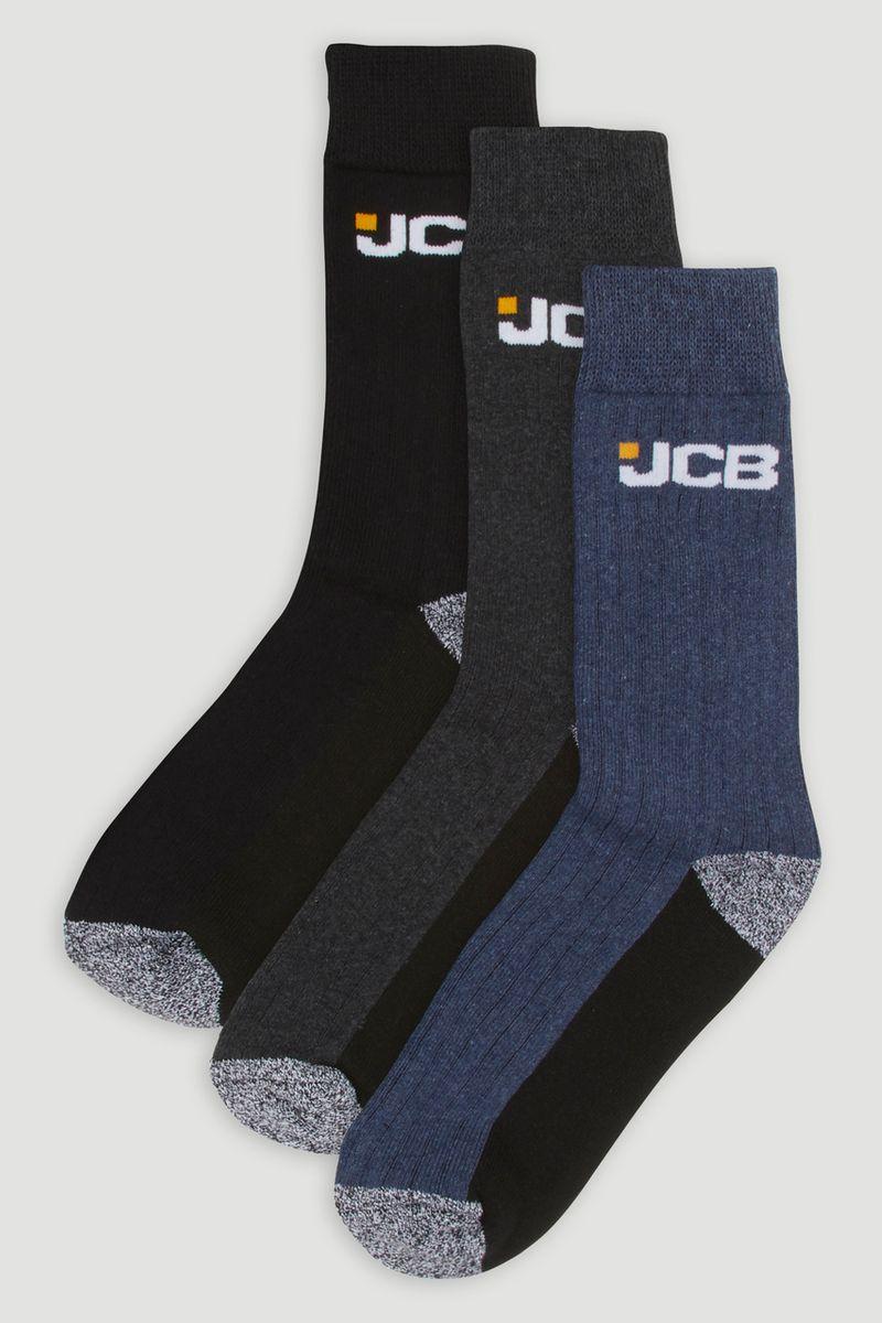 JCB 3 Pack Socks