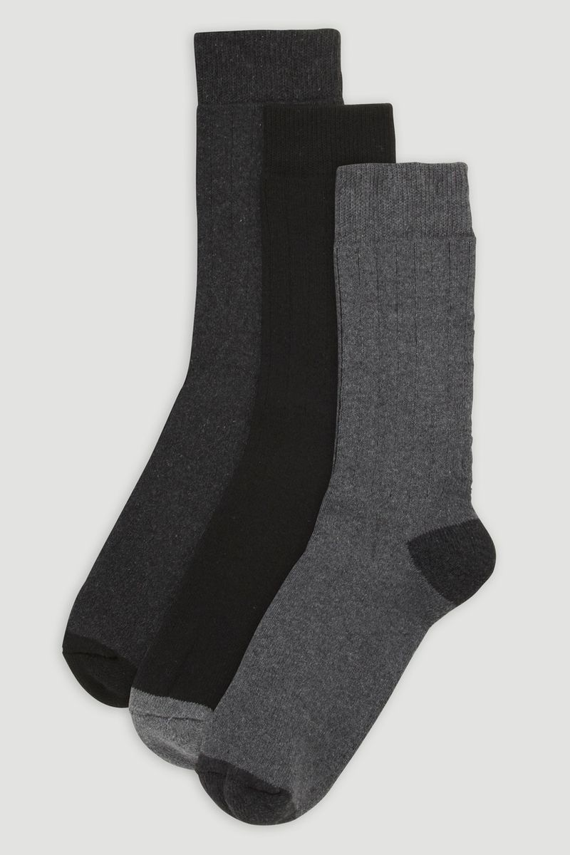 3 Pack Grey Outdoor Socks