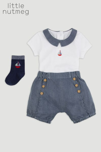 Little Nutmeg 3 Piece Woven Short Set