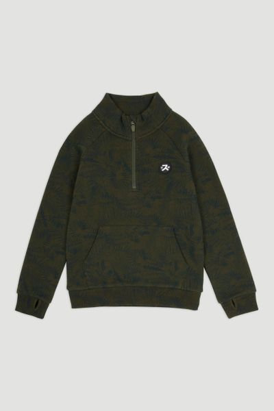 Khaki Leaf Zip Through Sweatshirt 1-14yrs