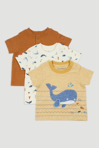3 Pack Stripe Whale T-Shirts