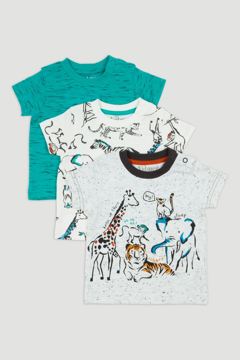 3 Pack Safari Animal T-Shirts