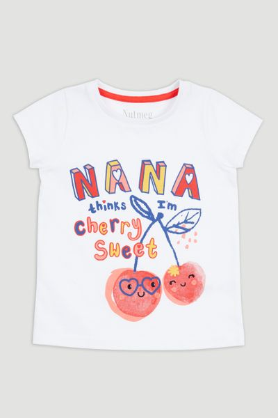 Nana Cherry Slogan T-Shirt
