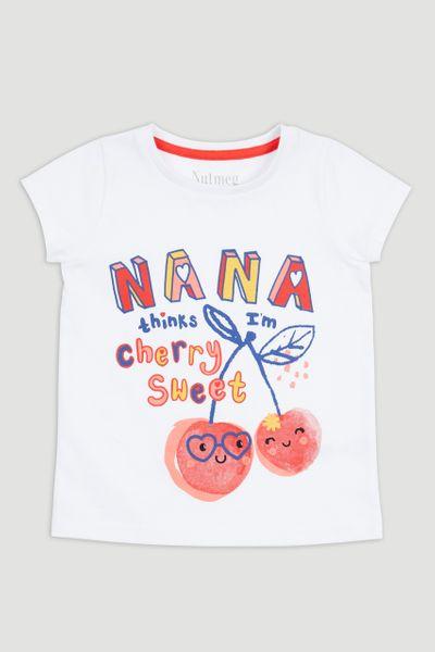 Nana Cherry Slogan T-Shirt