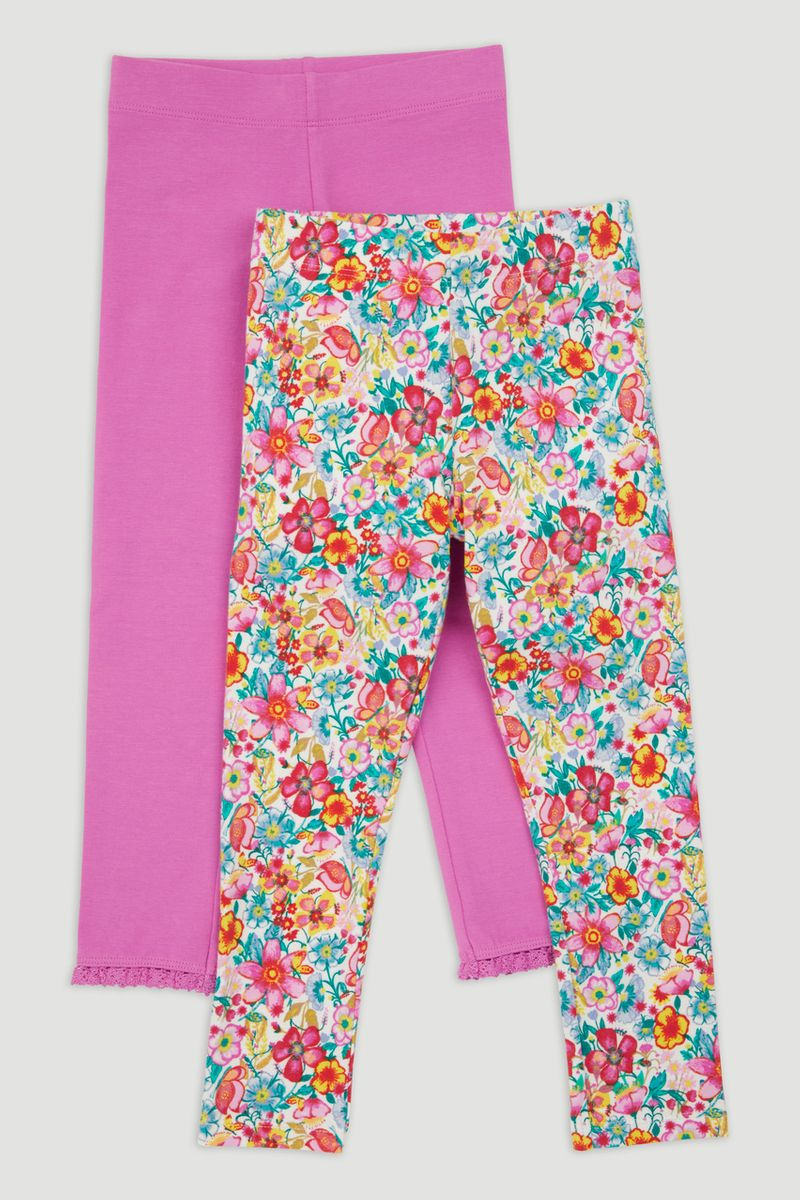 2 Pack Flower Leggings