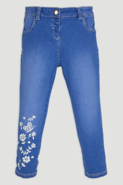 Denim Flower Jeans