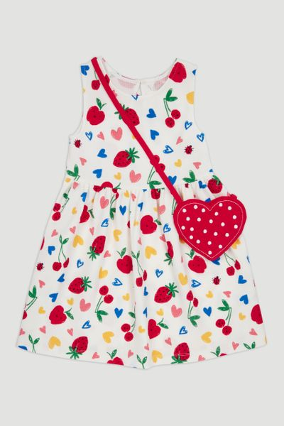 Cherry Dress & Bag 1-10yrs
