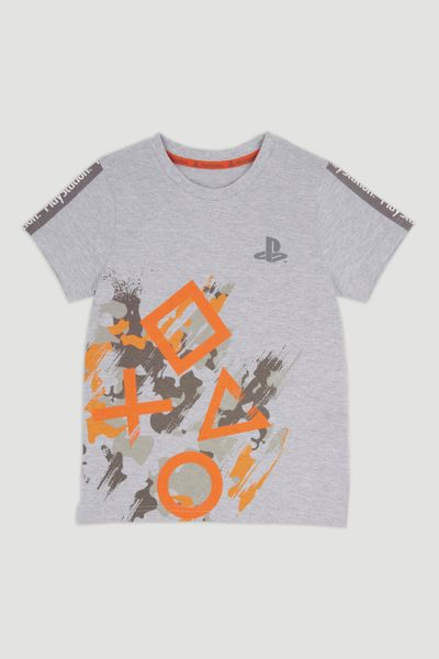 Grey Marl Playstation T-Shirt