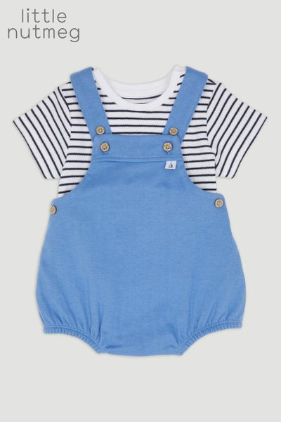 Little Nutmeg Jersey Romper Set
