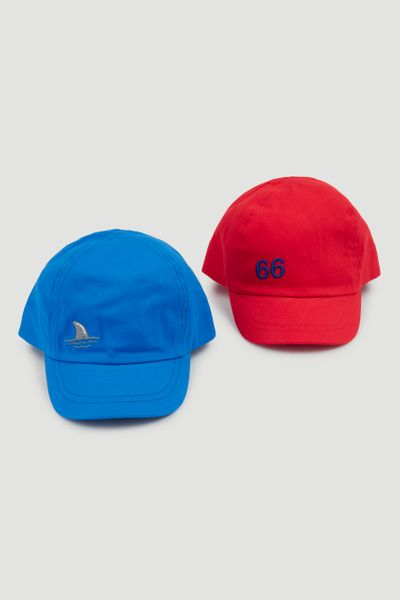 2 Pack Red & Blue Caps