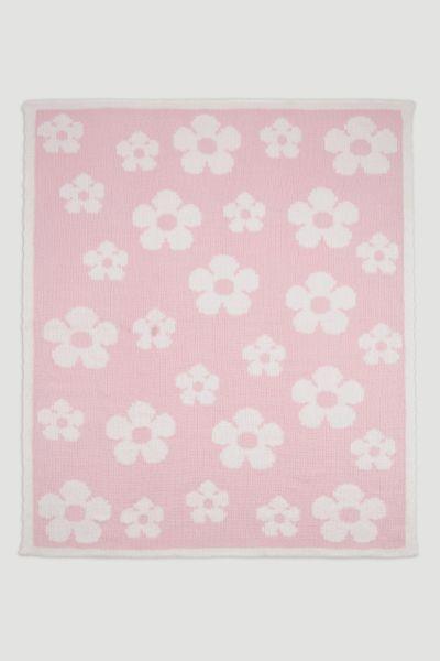 Pink Flower Chenille Shawl