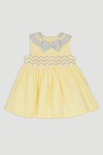Yellow Bow Collar Dress