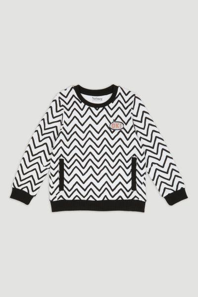 Monochrome Zig Zag Sweatshirt