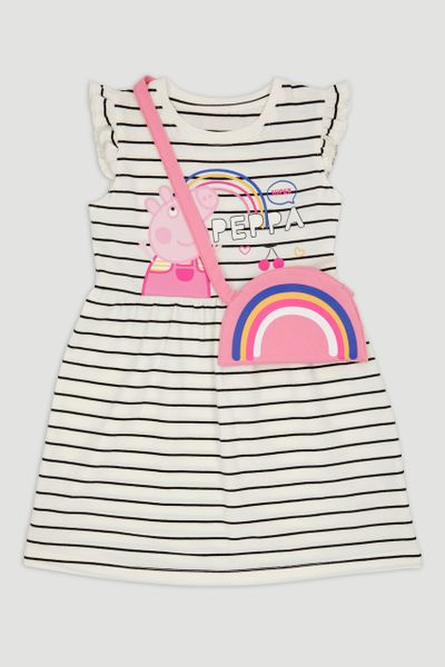 Peppa Pig Stripe Dress & Bag