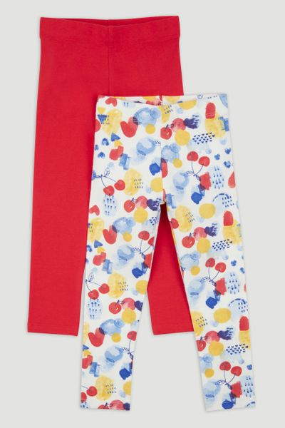 2 Pack Cherry Print Leggings