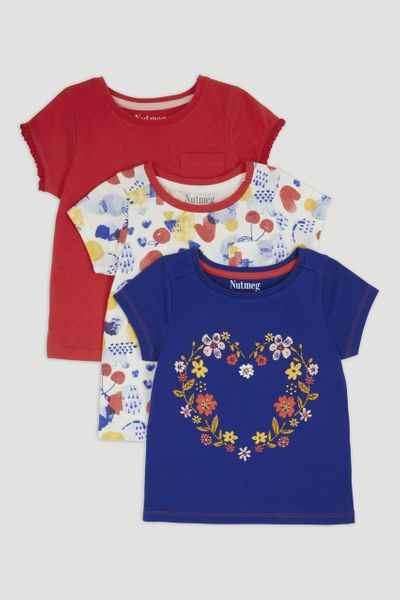 3 Pack Flower T-Shirts